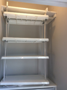 Closet Shelving System, Adjustable (Rubbermaid brand)