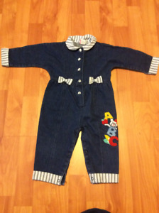 Girls Jean outfit, size 12 months