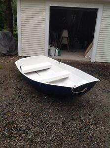 8 foot solid fibreglass row boat