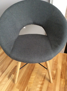 Chair grey fabric stylish modern