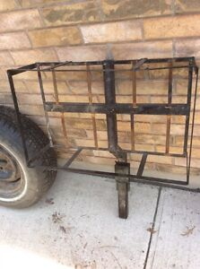 Hitch carrier fits 2 gas cans or cooler