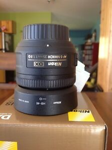 Nikkor prime lens F1.8  still under warranty Prince George British Columbia image 2