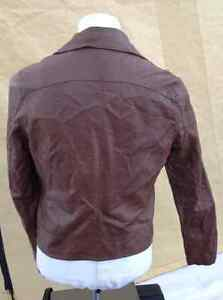 2 ladie's coats for 1 price - brown moto & green army Cambridge Kitchener Area image 2