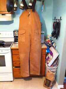 Work King lined overalls  XL