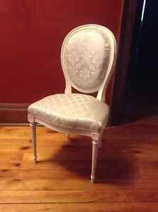 French provincial powder chair
