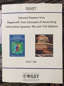 Accounting information systems 9th and 11th editions