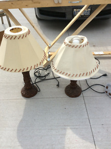 Two pairs of lamps