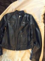 Ladies size small leather jacket and boots!!