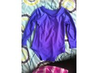 Purple leotard kids7-8
