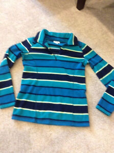 Women's Old Navy blue striped fleece pullover sweater Small London Ontario image 1