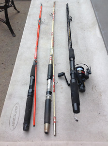 """QUANTUM"" FISHING ROD WITH REEL - GREAT CONDITION"