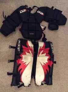 Youth street hockey goalie gear