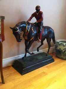horserace, antique cheval statue,