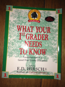 """NEW """"WHAT YOUR 1ST GRADER NEEDS TO KNOW"""" BOOK"""