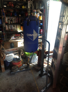 Boxing heavy bag and stand