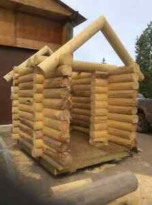 Log cabin. And log packages