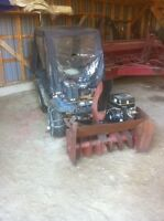 King quad,snow blower,cab, and tire chains