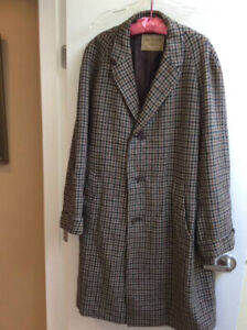 GEORGE STRAITH 100% NEW WOOL COAT MADE IN LONDON HOUNDSTOOTH PAT
