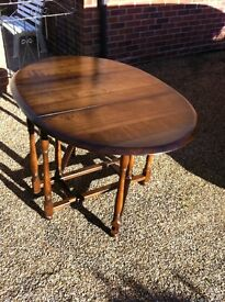 Gate leg table and four chairs
