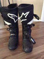 Alpine star size 9 motocross boots