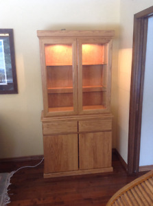 Oak China Cabinet in great condition.
