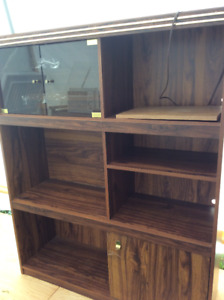 large tv  and entertainment wall unit