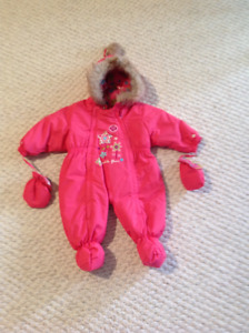 Baby girl One piece snow suit Excellent quality and Condition