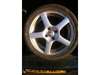 """Performance racing 15"""" alloy wheels 4x100 pcd £120 all used but in good condition"""