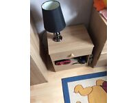 Wardrobe, chest of drawers and bed side table