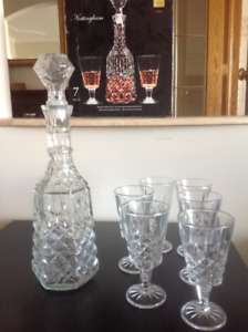 Wine carafe and glasses