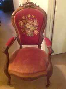 Victorian gentleman chair