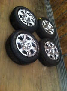 Oem 20 inch chrome rims and tires off of a 2012 Ford F-150
