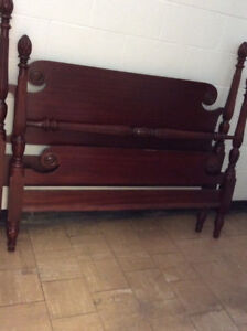 Antique Mahogany Double Bed