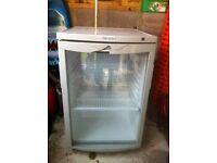 Glass front fridge