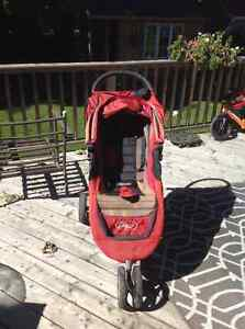 Baby Jogger City Mini with car seat adaptor and tray