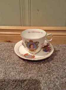 Queen Elizabeth II Coronation Cup and Saucer -Royal Stafford