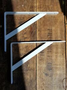 2 super heavy duty shelf supports