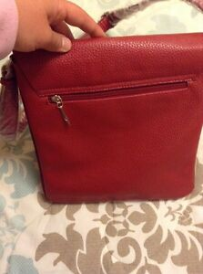 *REDUCED* New W/Tags Italian Red Leather Satchel Cambridge Kitchener Area image 6