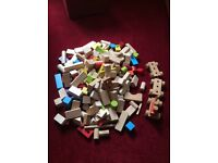 Selection of wooden building blocks, only £8!!