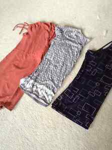 2 shirts, one tank top size large