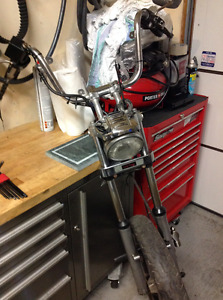 Harley shovelhead front end, AMF wheels