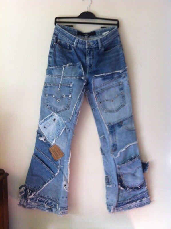 REDUCED Jeans, patchwork one off