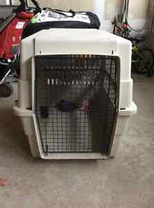 """dog crate in good conditions size:21""""x28""""x31"""""""