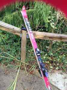 6 foot downhill skis and bindings