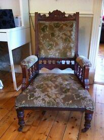 Gentlemens antique chair