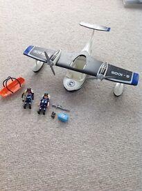Playmobil police plane and figures