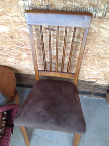 Solid wood fold down table with two side chairs in New Glasgow