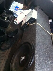FOR SALE:Two 8 inch subs with 500w Amp
