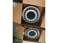 Vw transporter t5 steel wheels with vw caps