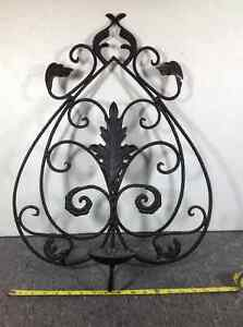 Metal ornate candle holder wall hanging sconce